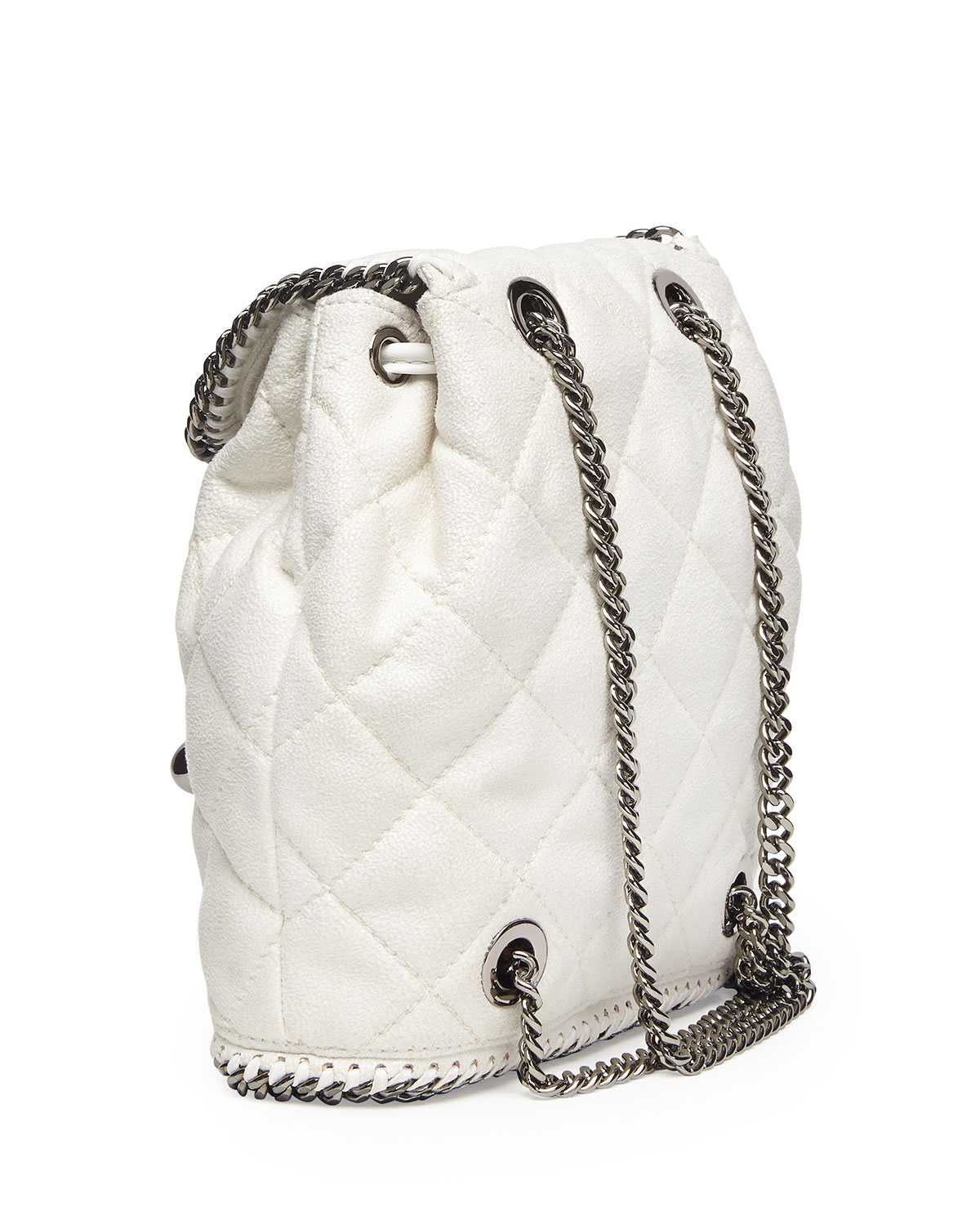 stella mccartney falabella quilted mini backpack in white chalk lyst. Black Bedroom Furniture Sets. Home Design Ideas