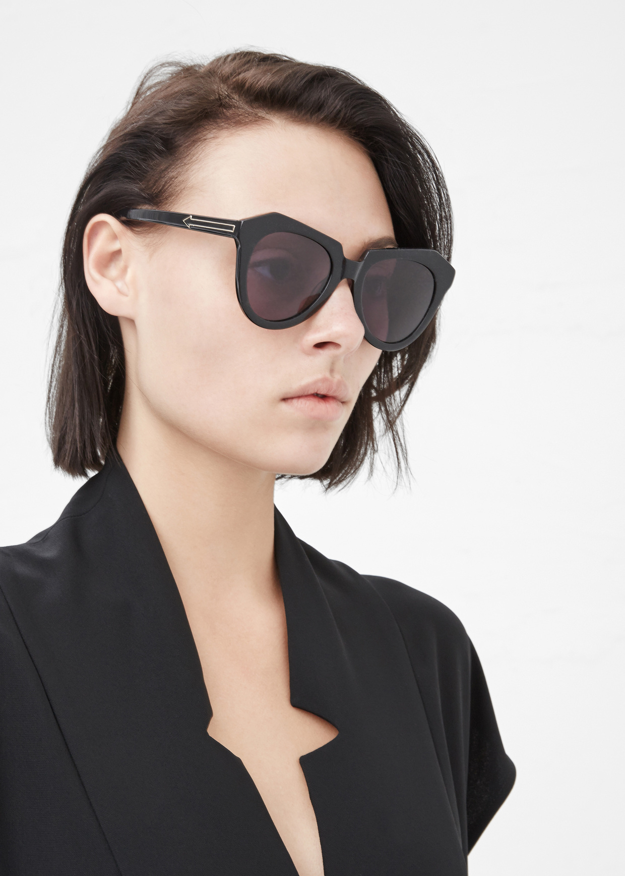 212ea7f8c1a Lyst - Karen Walker Black Number One Sunglasses in Black