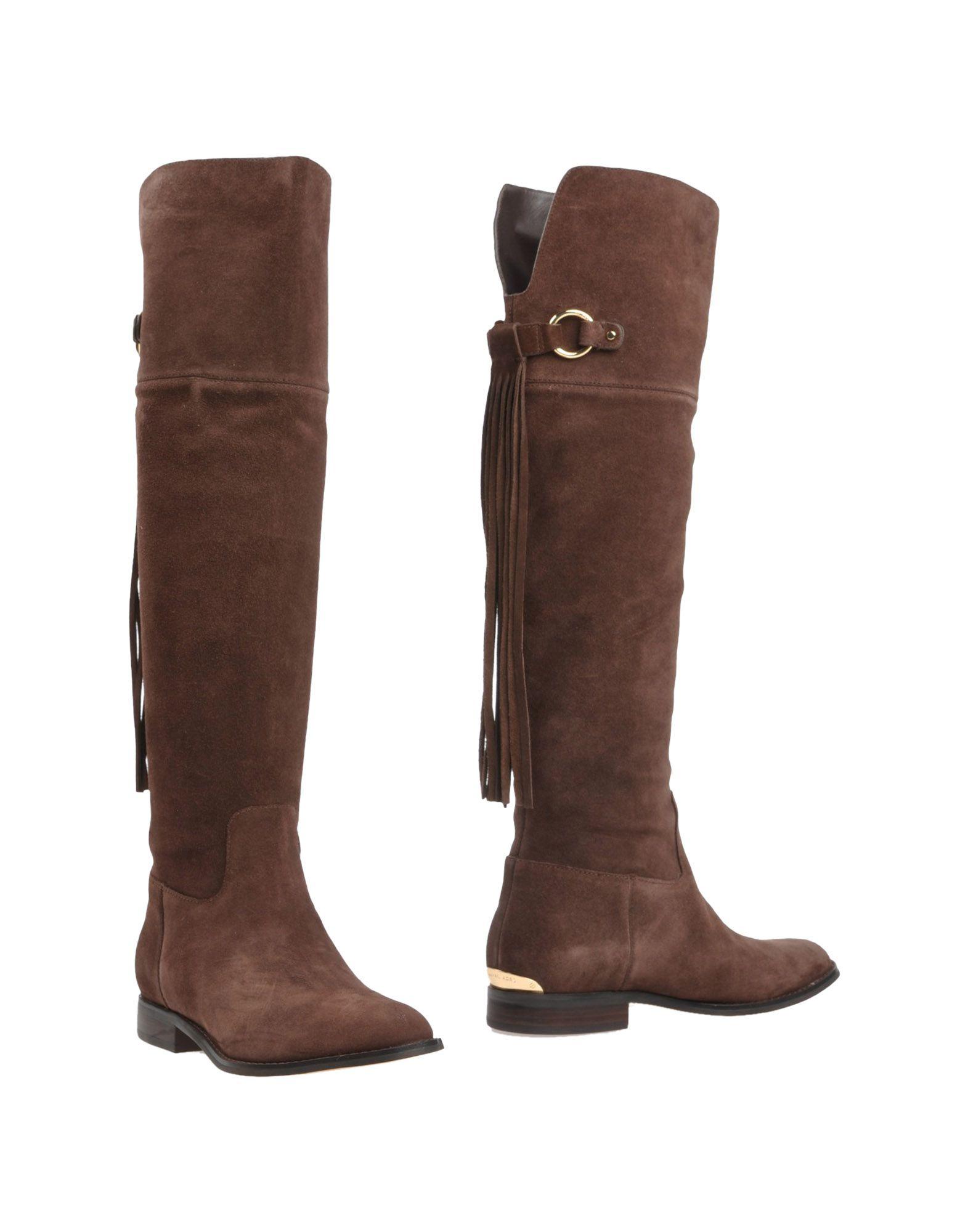 michael michael kors boots in brown brown lyst