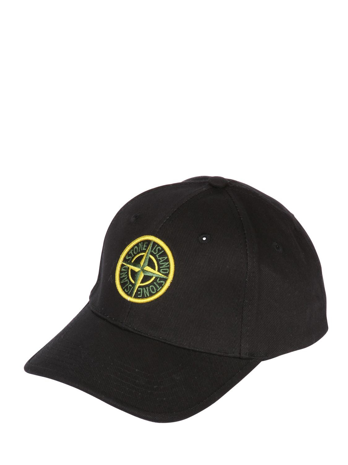 Lyst - Stone Island Cotton Canvas Baseball Hat in Black for Men a47e078e05d