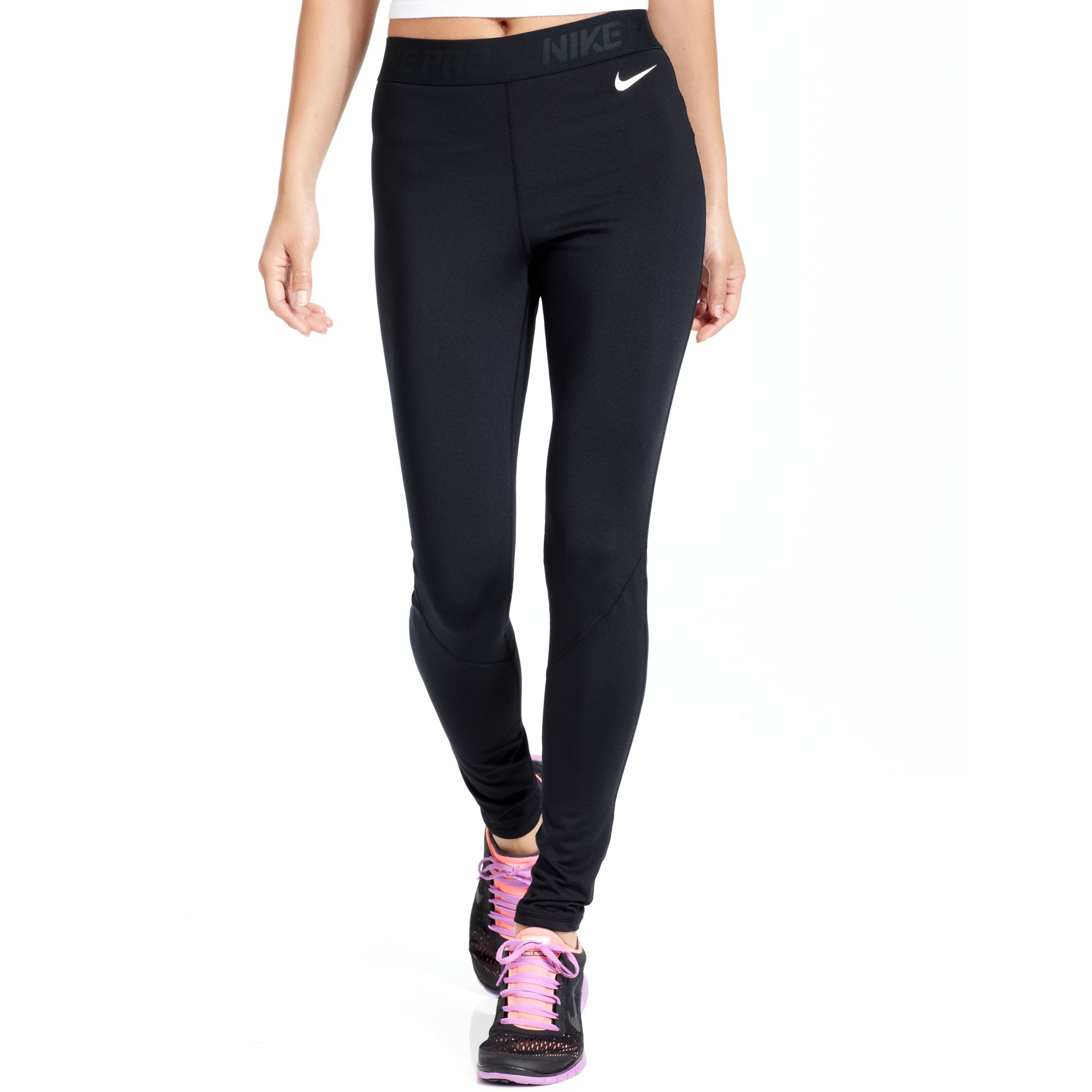 Nike Prohyperwarm Drifit Running Leggings in Black | Lyst
