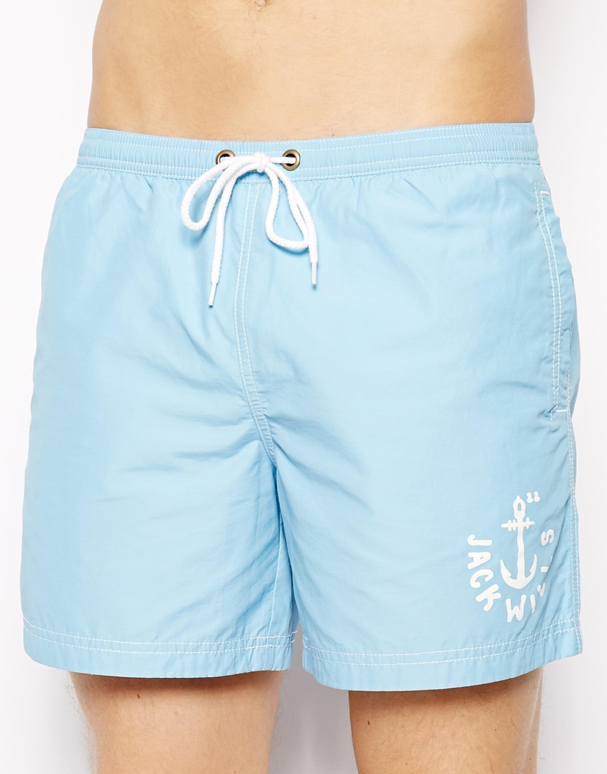 Jack wills Plain Swim Shorts Sky Blue in Blue for Men | Lyst