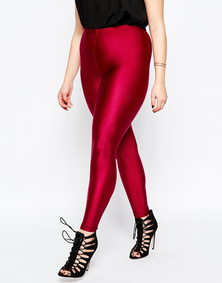 ab0fd43a6d40e8 ASOS Legging With High Waist In Shimmer Disco in Purple - Lyst