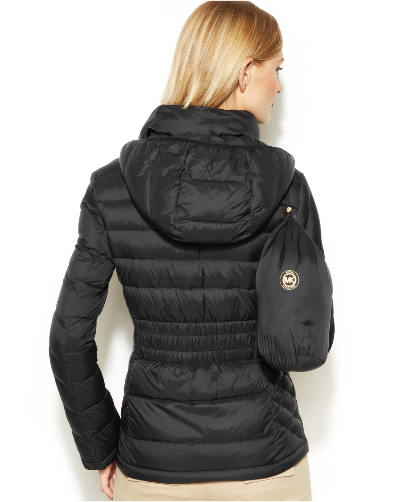 Lyst Michael Kors Michael Packable Chevron Quilted Down
