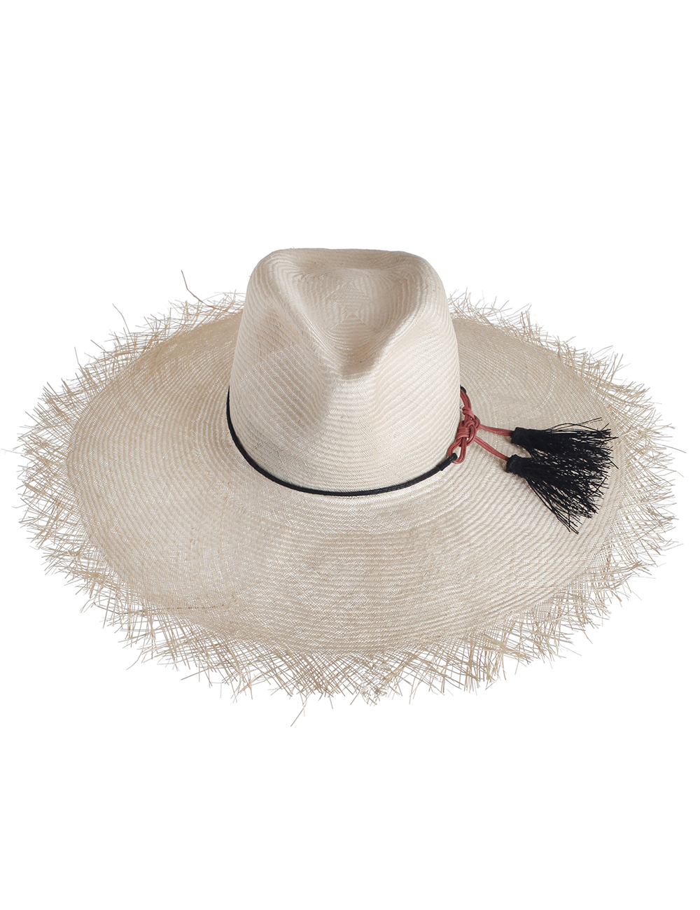 Lyst - Zimmermann Frayed Edge Wide Brim Sun Hat in White 24bfb80d7b13
