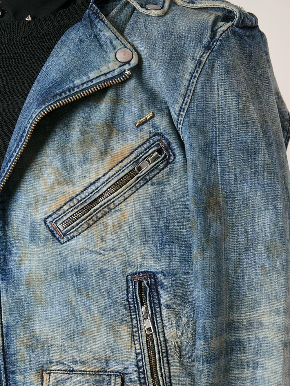 de4dbefbce66b Lyst - DIESEL Denim Jacket in Blue for Men
