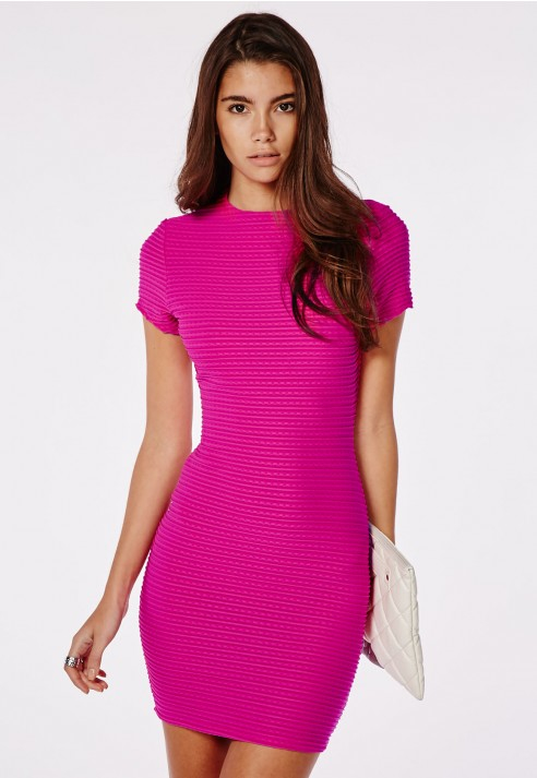 hot pink bodycon dress - Dress Yp