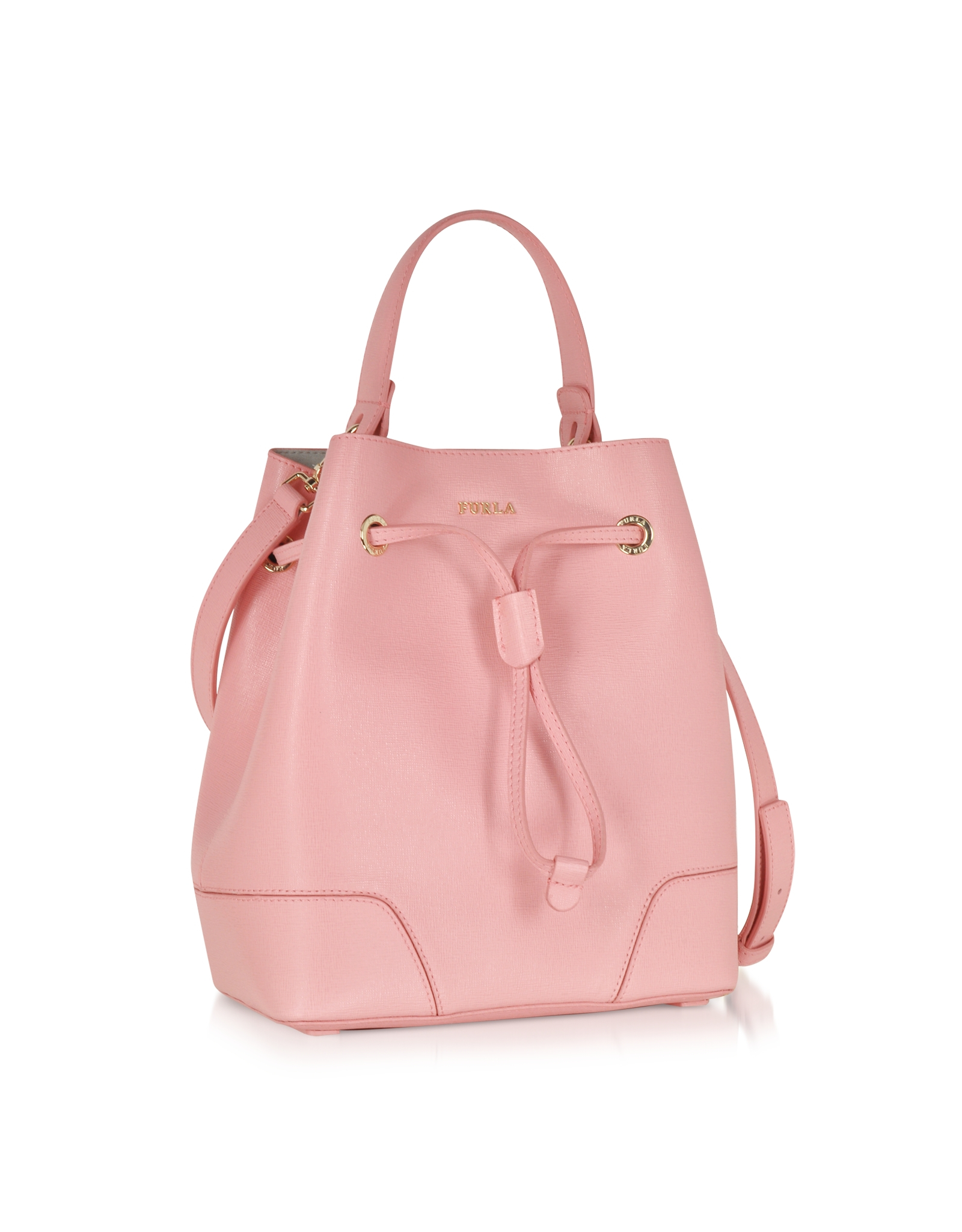 Lyst - Furla Stacy Winter Rose Leather Small Bucket Bag in Pink ffb7c597e9774