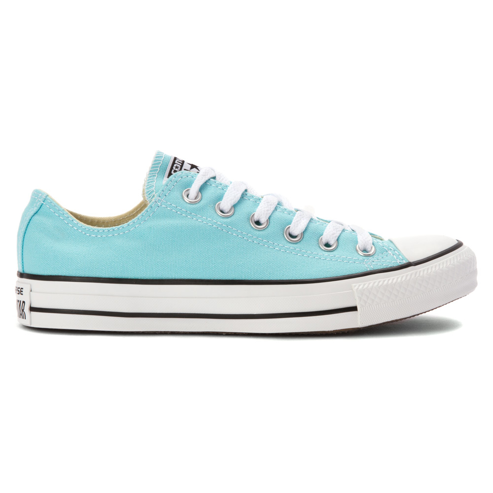 converse chuck taylor all star low top in blue for men lyst