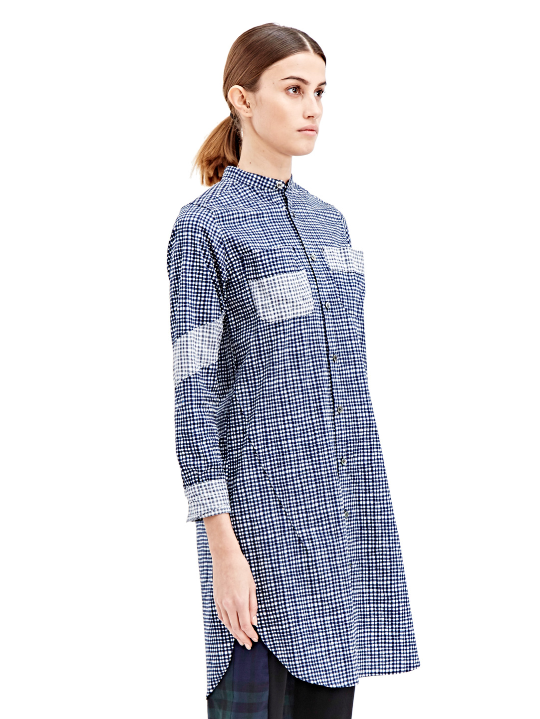 Sawa takai Sawa Takai Womens Twisted Long Shirt in Blue | Lyst