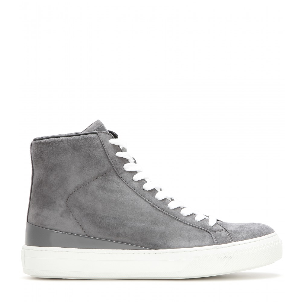 6290978d61c5c8 Lyst - Tod s Suede High-top Sneakers in Gray