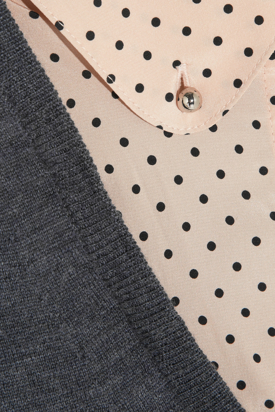 Tory burch Lacey Stretch Silk-Trimmed Merino Wool Sweater ...