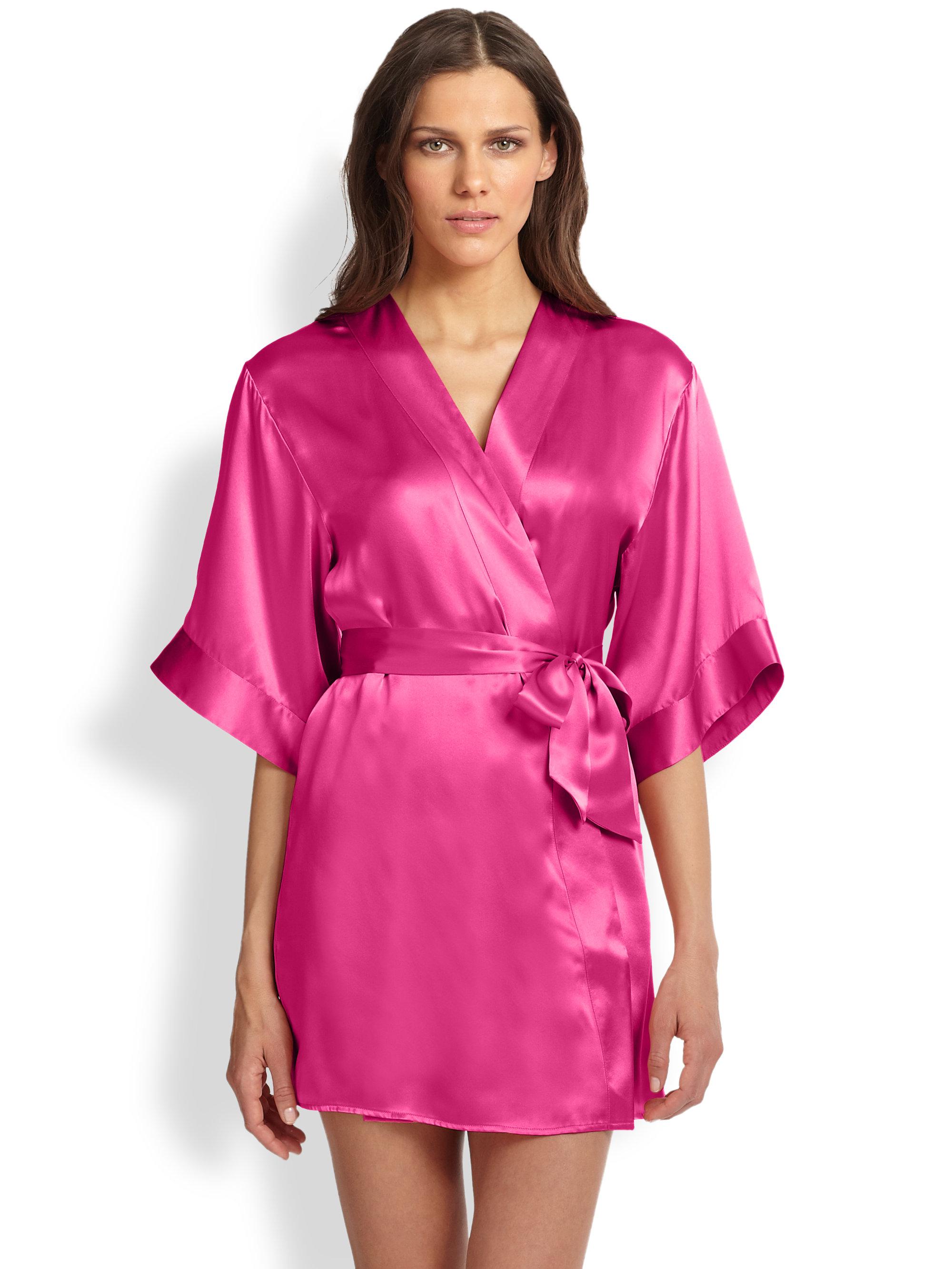 La perla dolce robe in pink lyst for Robes de mariage de betsey johnson