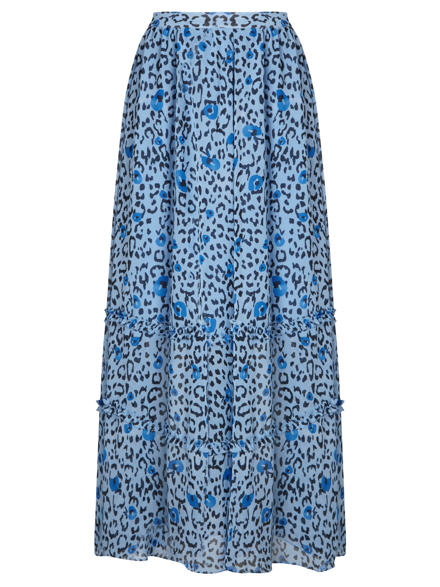 41ab1e2b9018 Somerset by Alice Temperley Leopard Print Maxi Skirt in Blue - Lyst