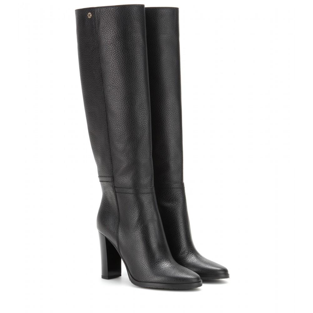 fb01bbffdea Jimmy Choo Haywood Leather Boots in Black - Lyst