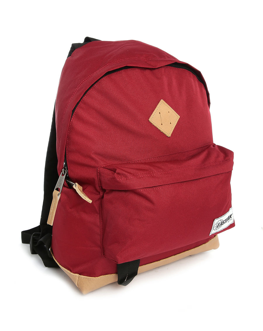 Eastpak Burgundy Wyoming 24l Backpack With Leather Details in Red ...