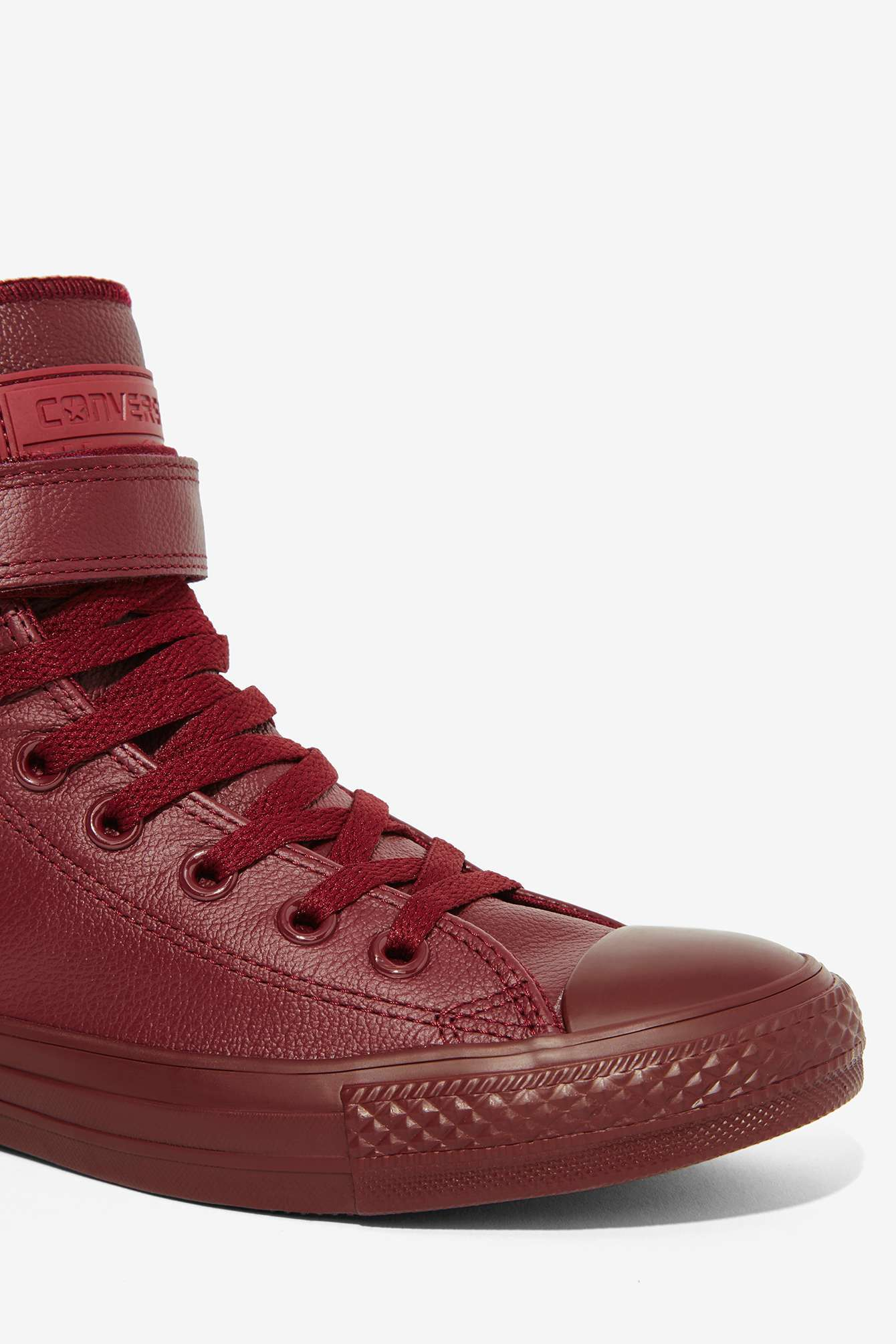 Lyst - Converse Chuck Taylor Brea Leather Sneaker - Burgundy in Red 48187c3fbd16