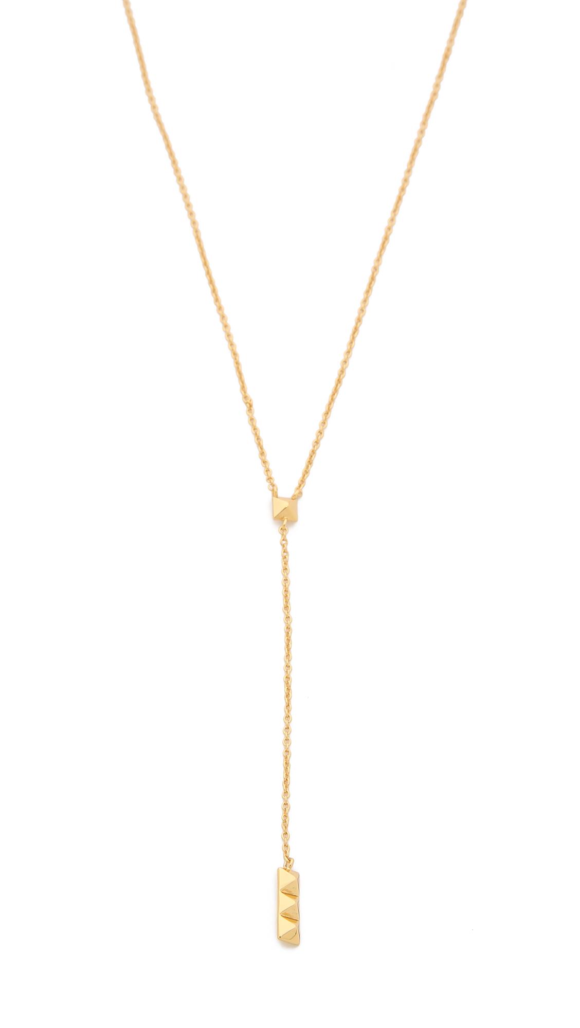 gorjana dalton lariat necklace gold in metallic lyst