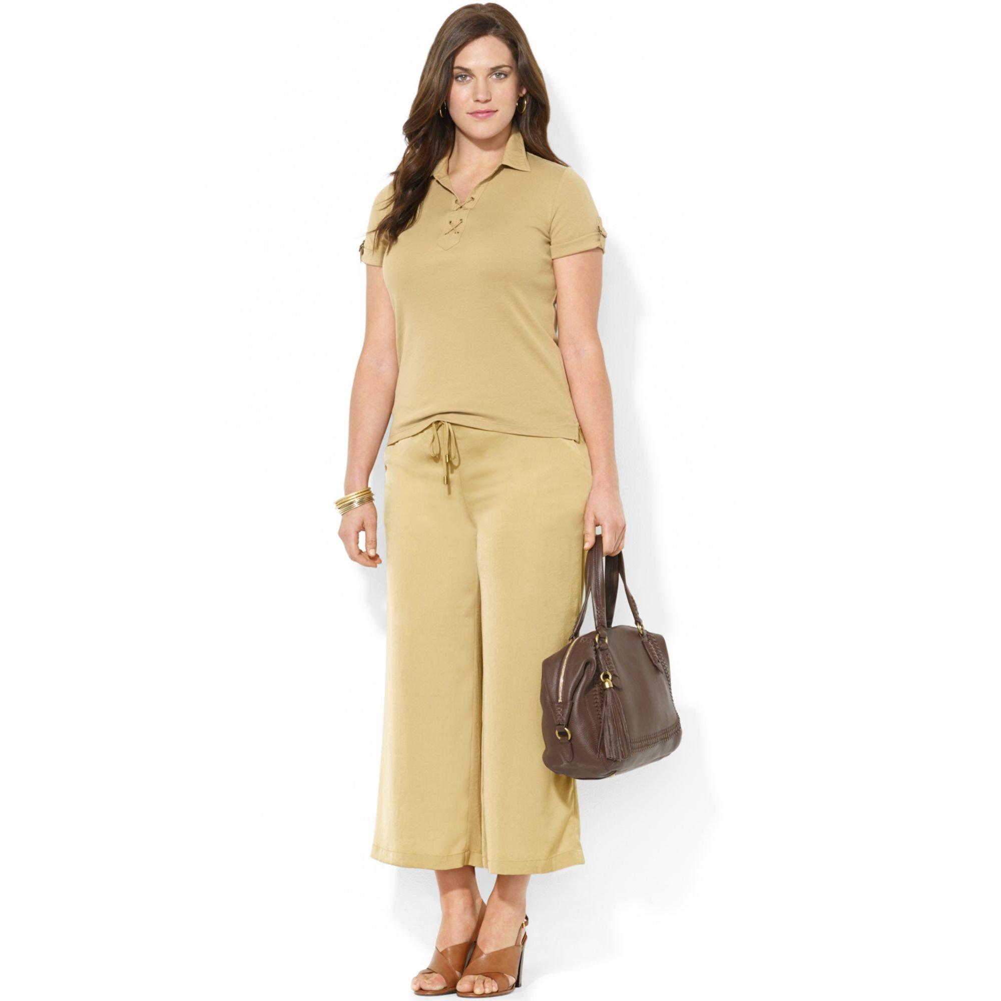 Lauren by ralph lauren Plus Size Cropped Wideleg Soft Pants in ...