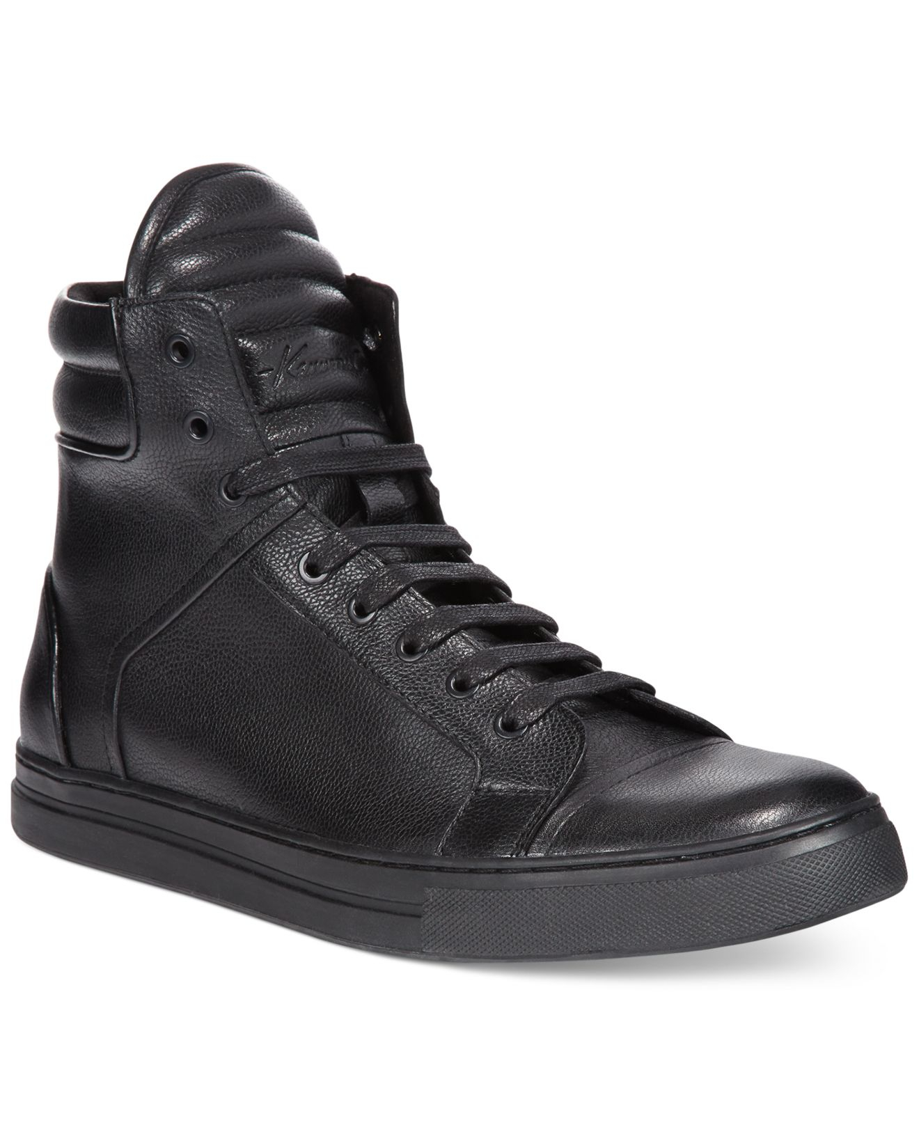 Kenneth Cole Double Header High Top Sneakers In Brown For