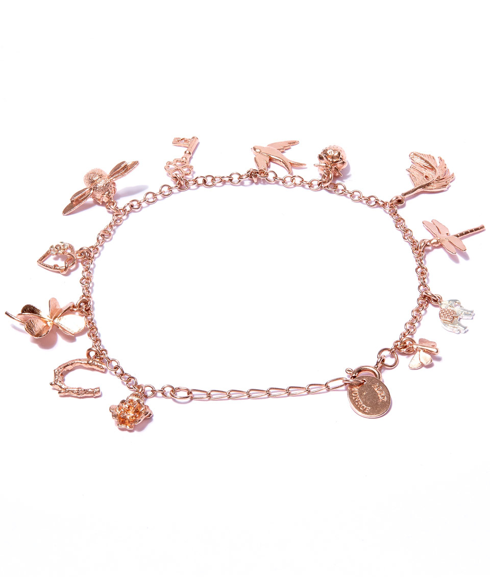 60afae0cfdc Alex Monroe Rose Gold-plated Greatest Hits Baby Charm Bracelet in ...