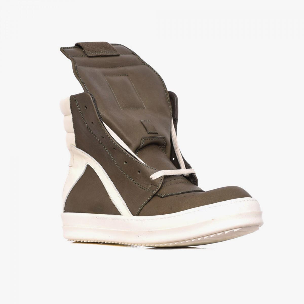 rick owens geobasket leather high top sneakers in brown for men lyst. Black Bedroom Furniture Sets. Home Design Ideas