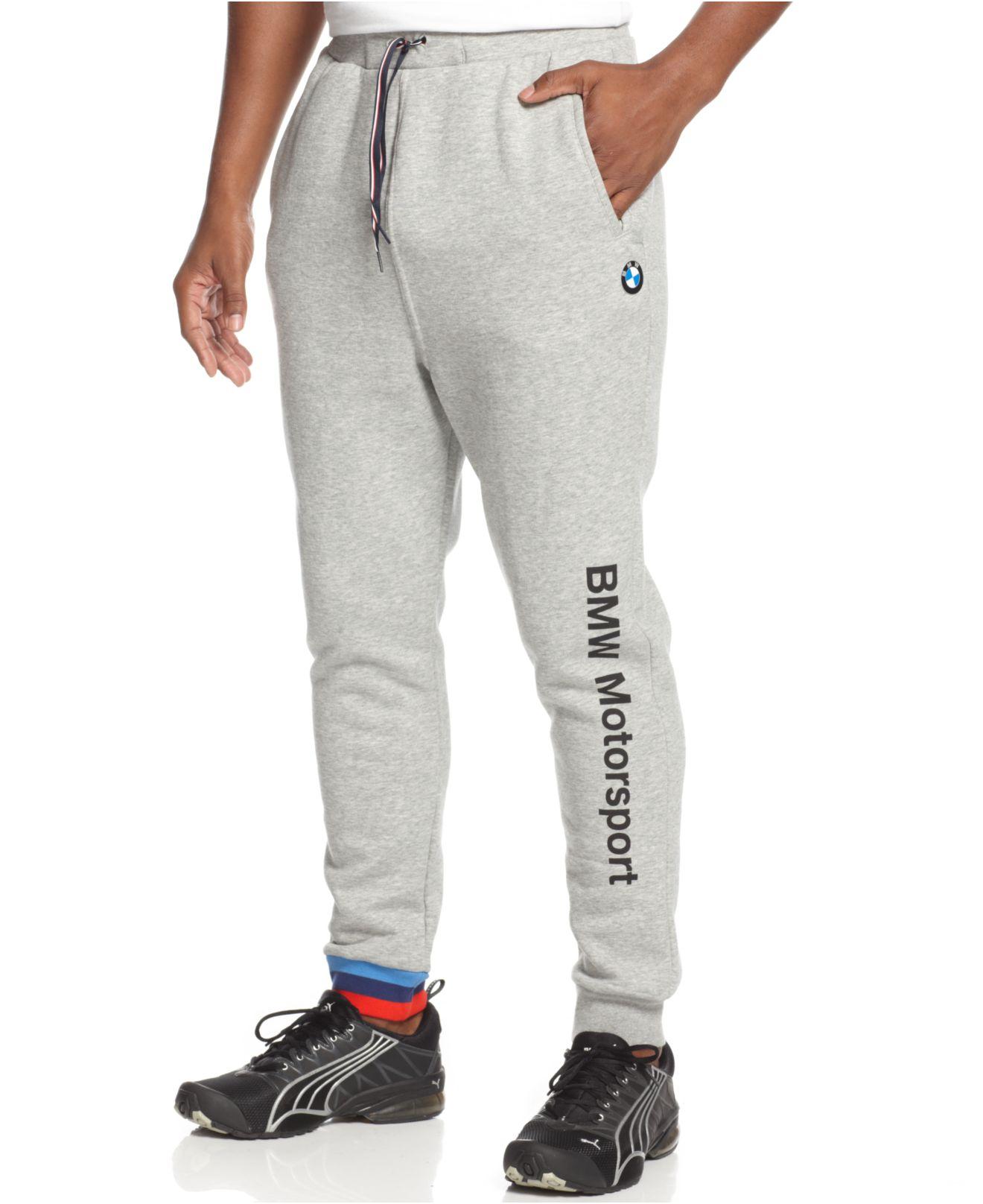 3d62118e6d25 Lyst - PUMA Bmw Fleece Jogger Pants in Gray for Men