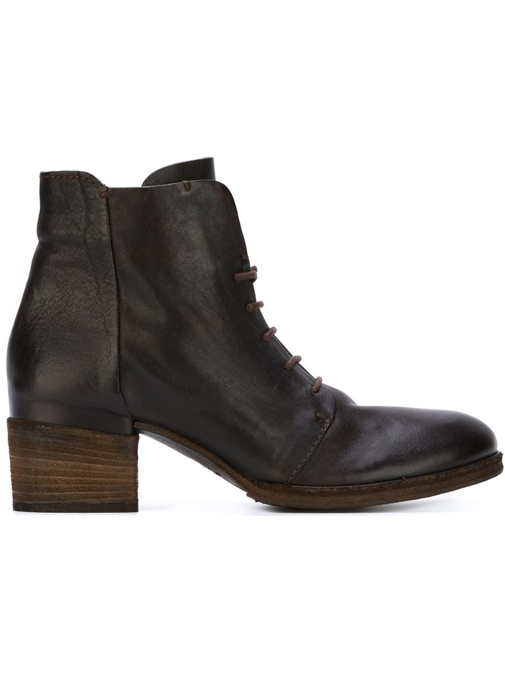 Roberto Del Carlo Round-Toe Leather Booties footaction sale online eRLzyW1MGZ
