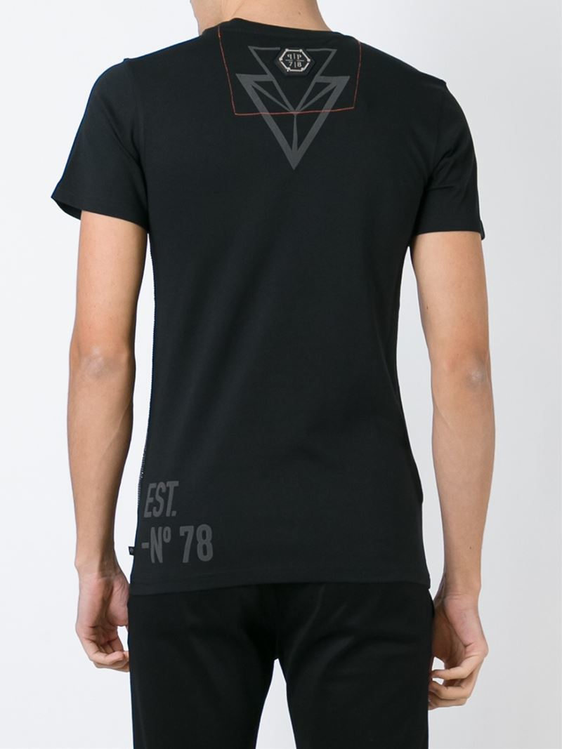 philipp plein bipolar t shirt in black for men lyst. Black Bedroom Furniture Sets. Home Design Ideas