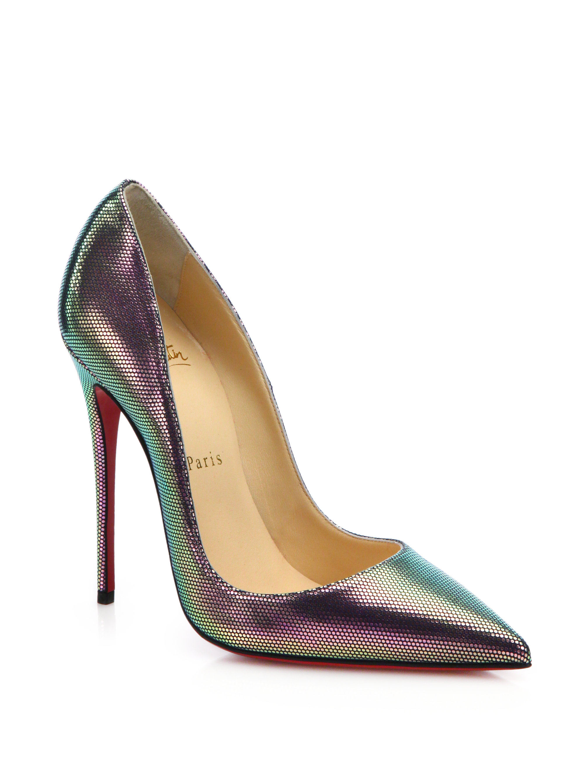 4f522d83c90 Lyst - Christian Louboutin So Kate Scarabe Leather   Mesh Pumps in ...