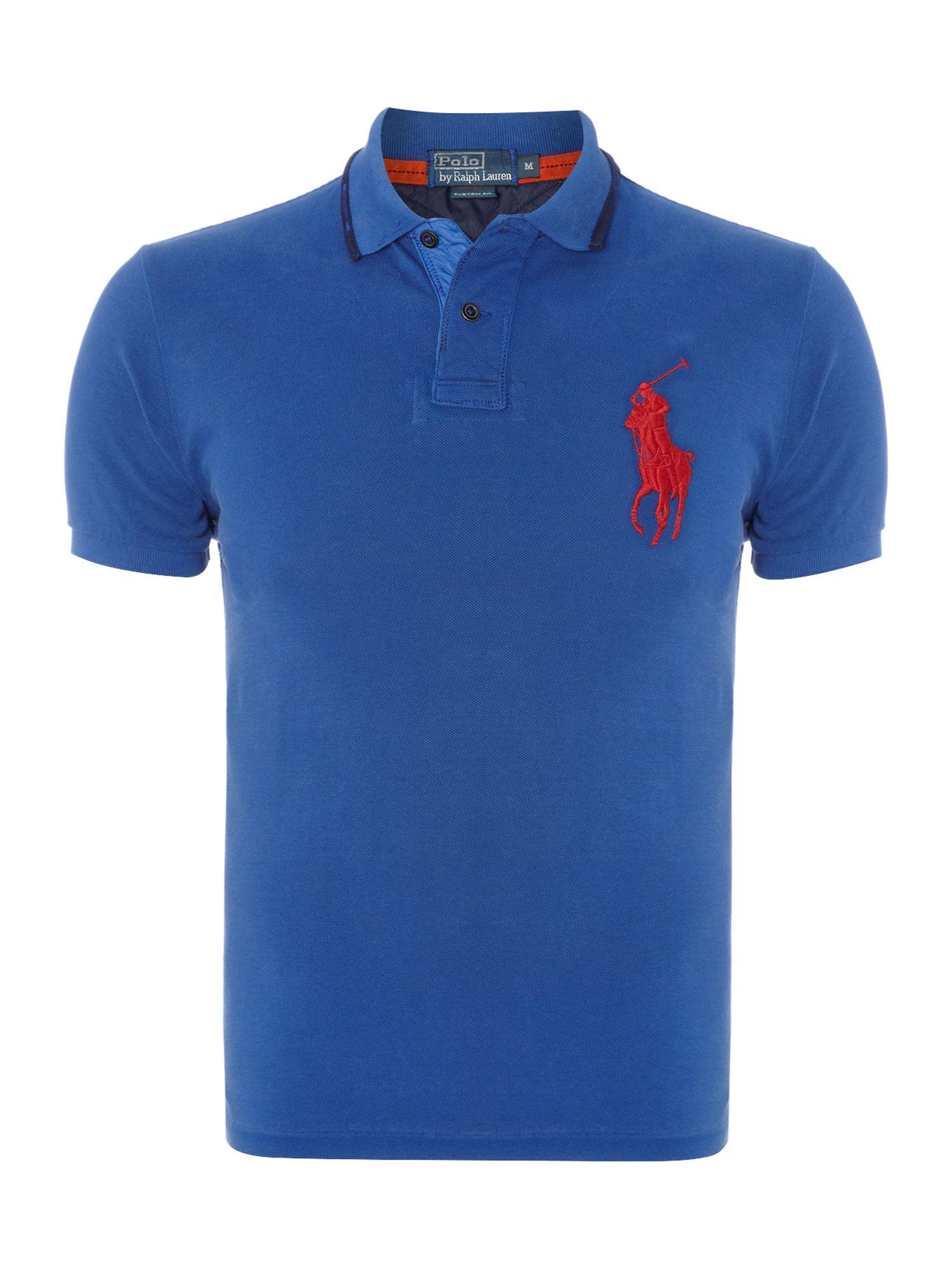 Polo ralph lauren big pony rugged custom fit polo shirt in for Polo ralph lauren custom fit polo shirt