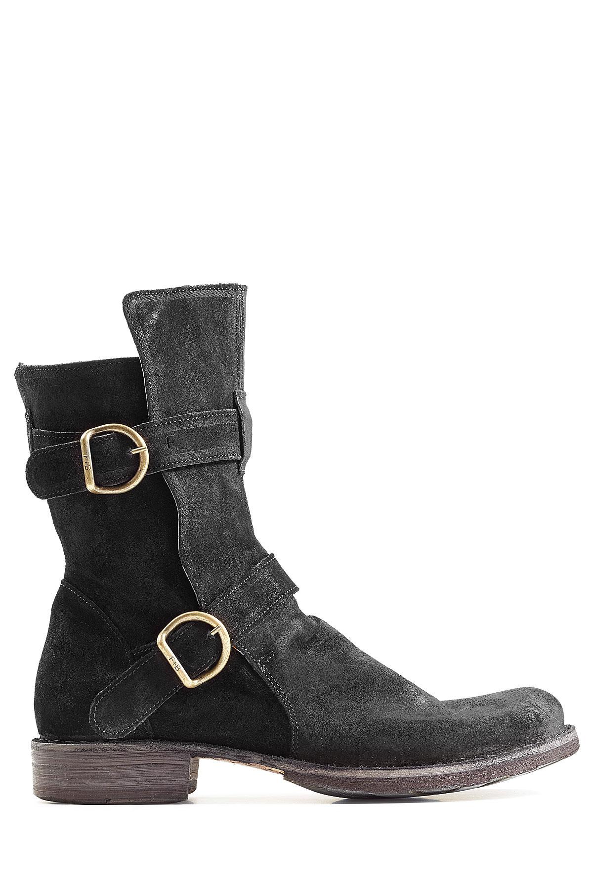 fiorentini baker suede boots black in black for men lyst. Black Bedroom Furniture Sets. Home Design Ideas
