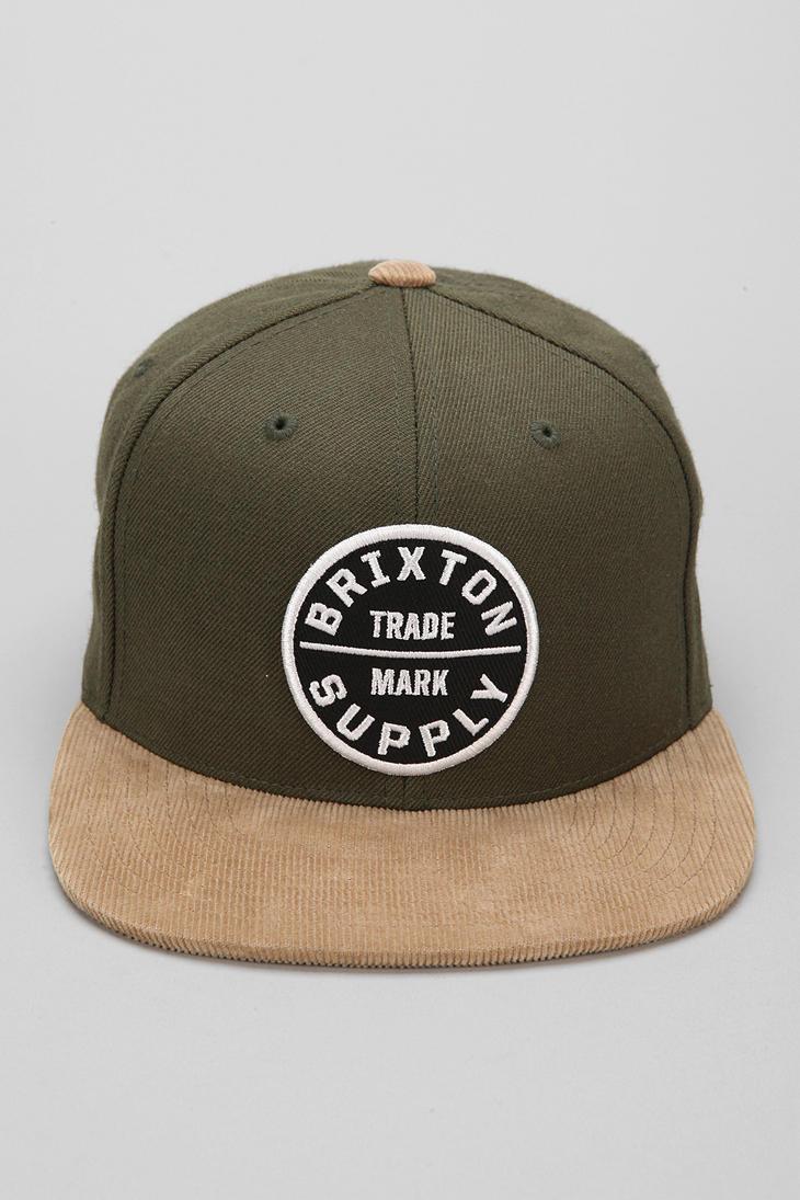 Lyst - Urban Outfitters Brixton Oath Iii Snapback Hat in Green for Men f36f237b5b5