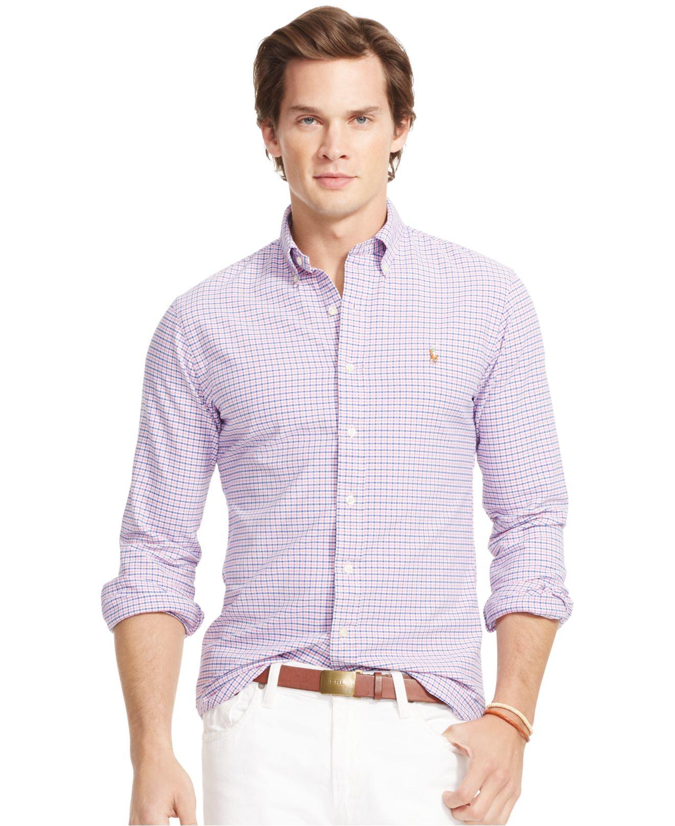 ec3ed03c Polo Ralph Lauren Men's Men's Long Sleeve Multi-gingham Oxford Shirt ...