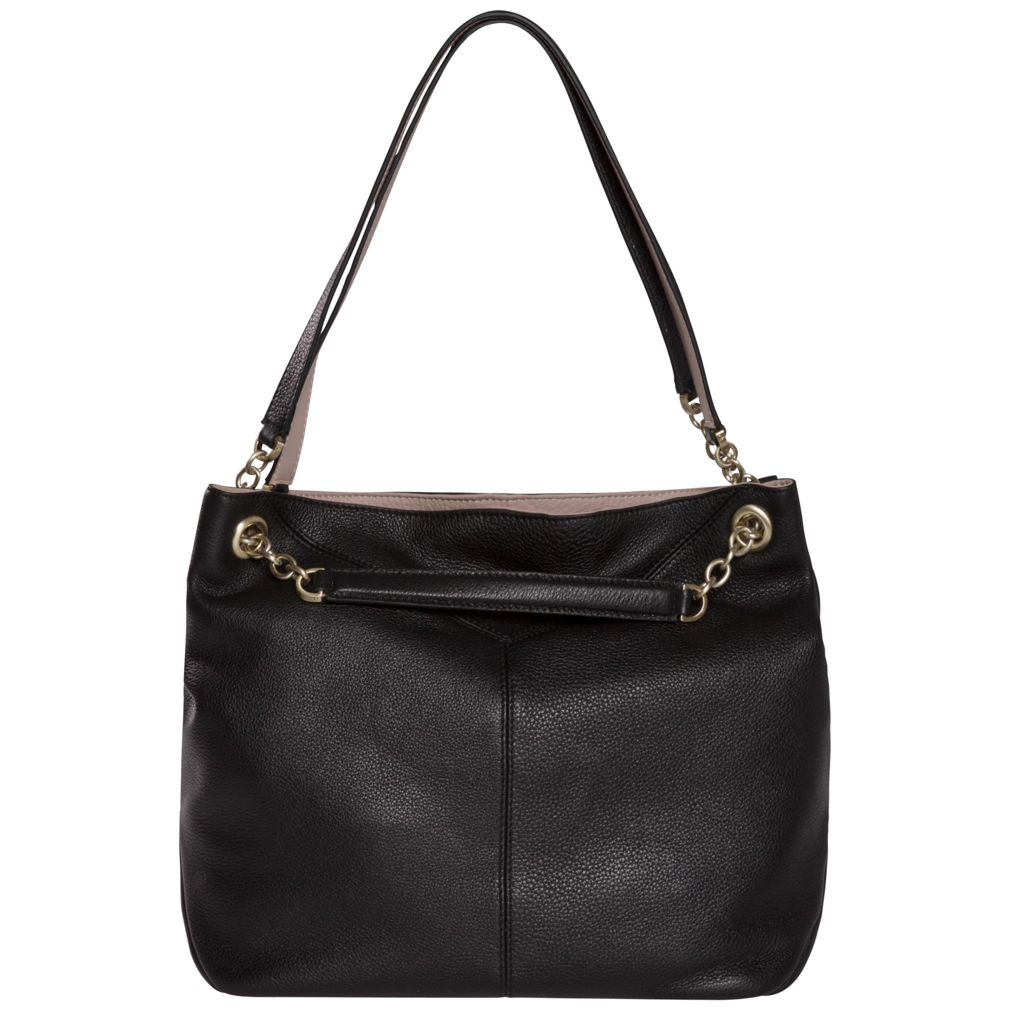 53d28a057b Calvin Klein Mia Chain Saffiano Leather Tote Bag in Black - Lyst
