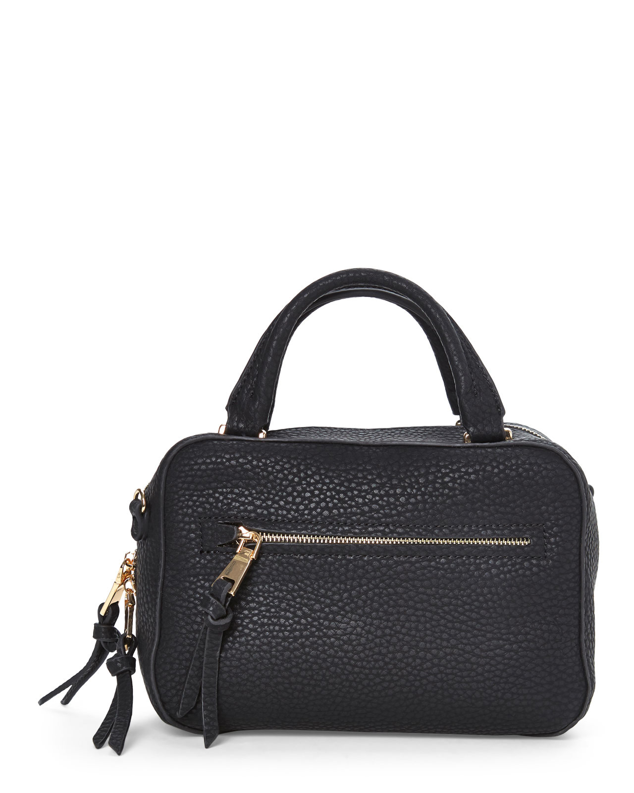 cf9acab599 Lyst - Urban Expressions Black Quinn Satchel in Black