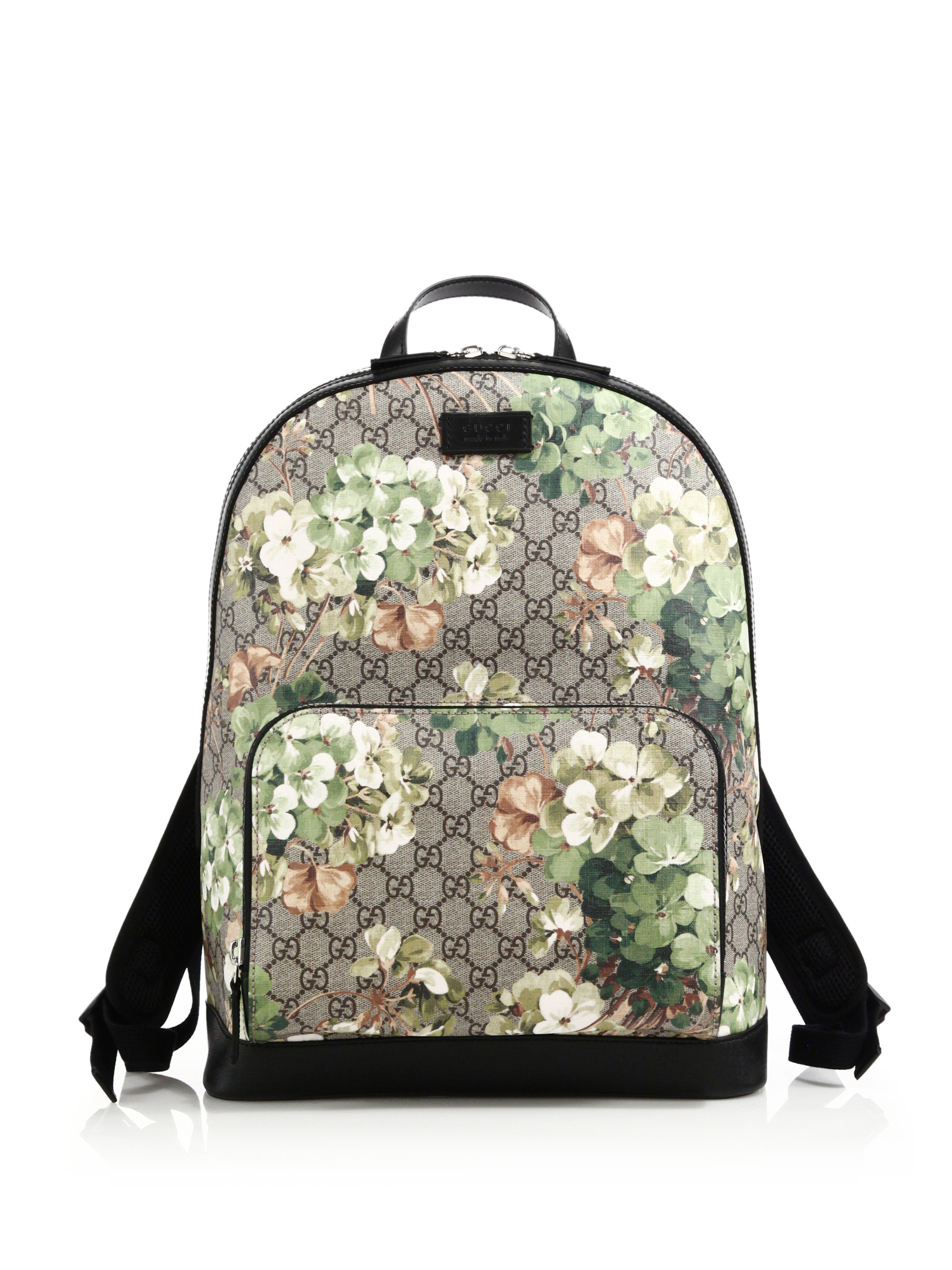 a354debfcf35 Gucci Blooms Gg Supreme Canvas Backpack for Men - Lyst