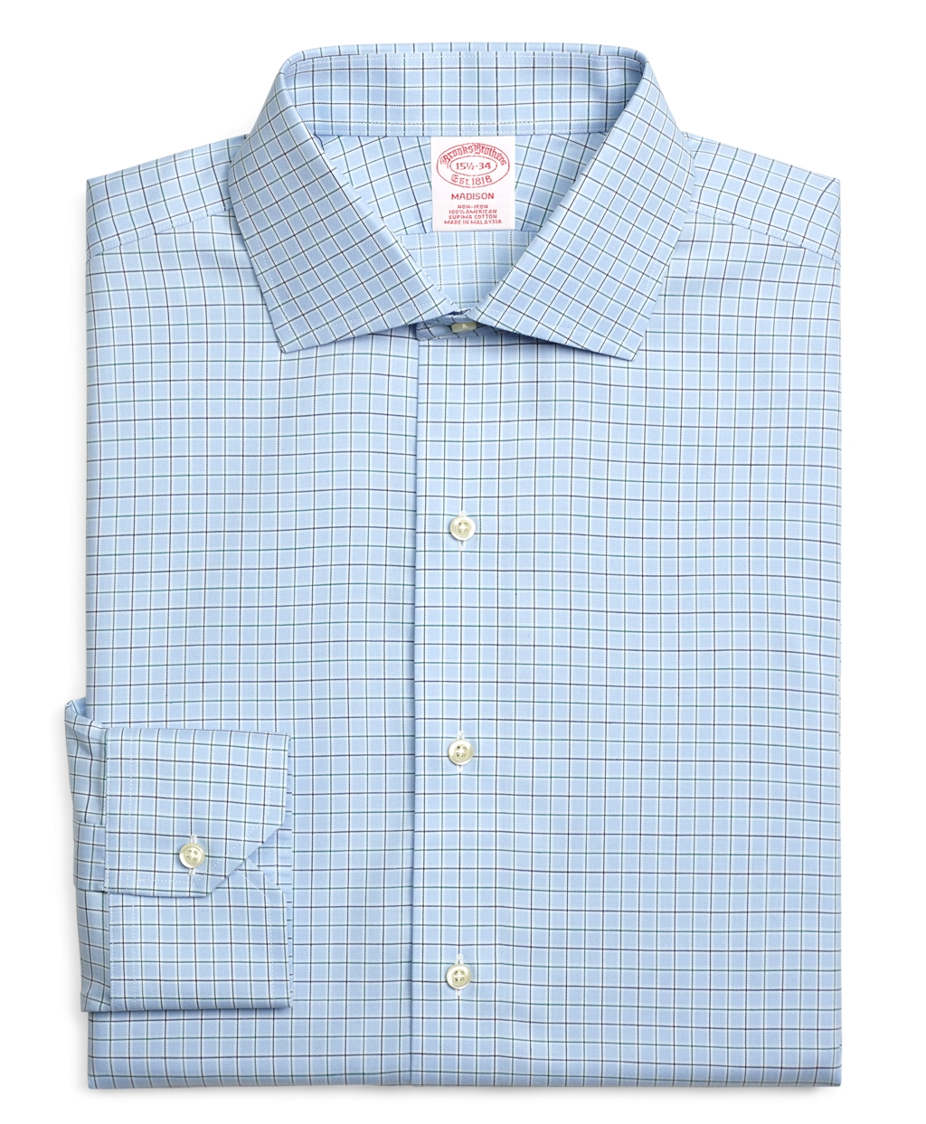 Lyst brooks brothers non iron milano fit alternating for Brooks brothers dress shirt fit