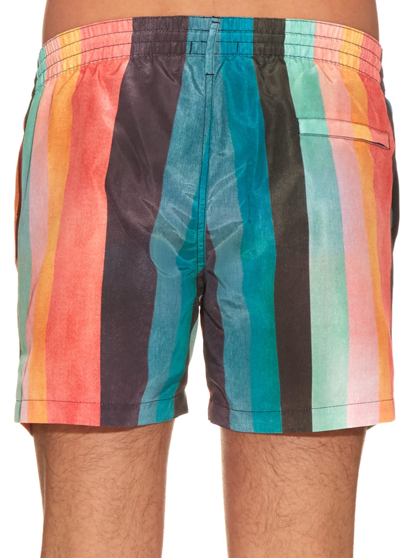c6f08fe93c Lyst - Paul Smith Striped Swim Shorts for Men