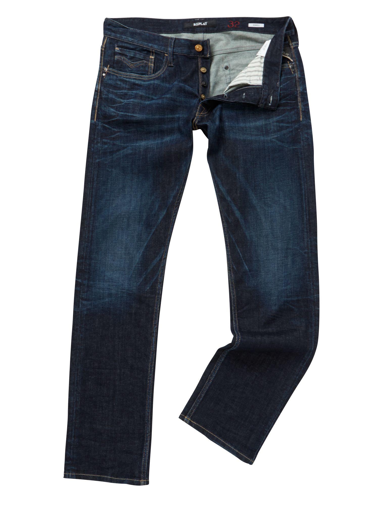 replay waitom regular slim fit jean in blue for men lyst. Black Bedroom Furniture Sets. Home Design Ideas