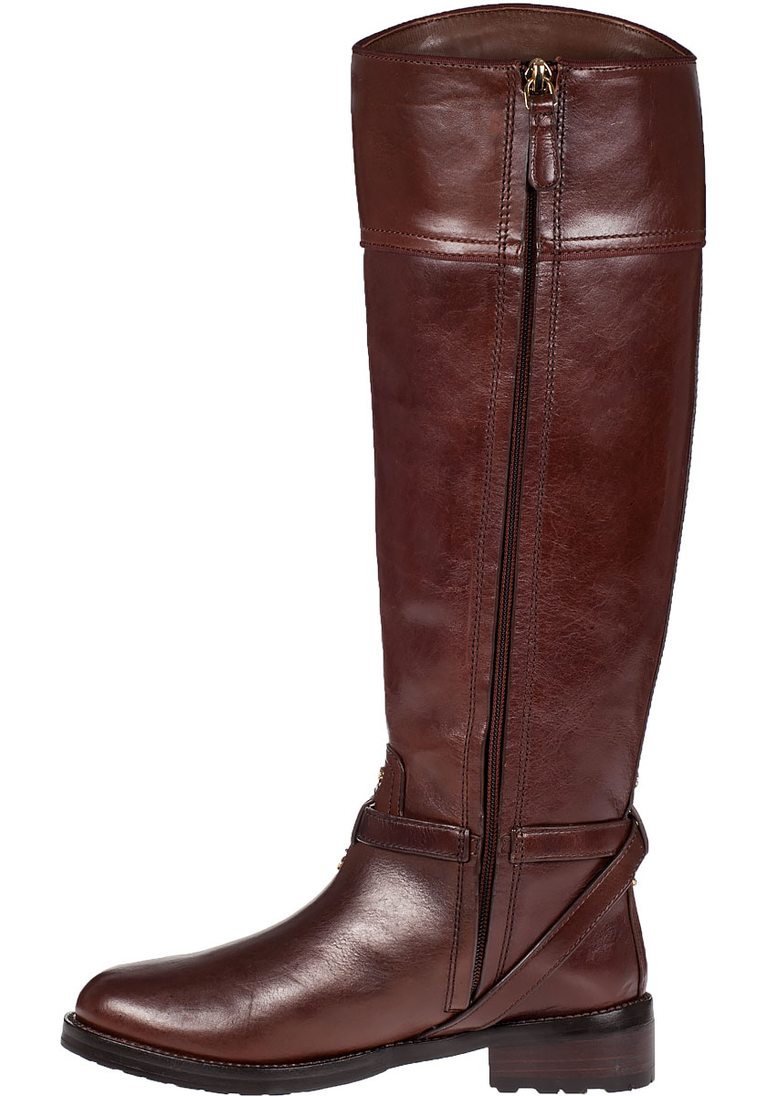 bf315158e6ee Lyst - Tory Burch Teresa Riding Boot Almond Leather in Brown