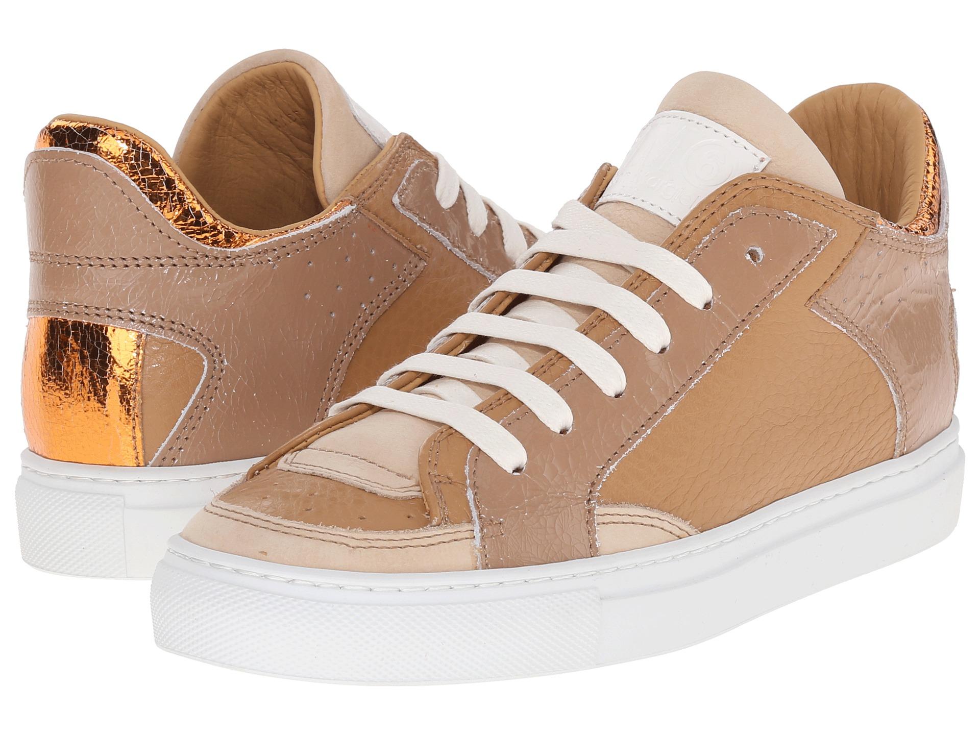 MM6 Maison MargielaMetallic Crackle Low Top Sneaker syG4Smml