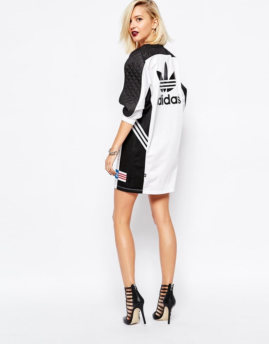 26fa8e46a31 adidas Originals Rita Ora Long Sleeve Panel Dress in Black - Lyst