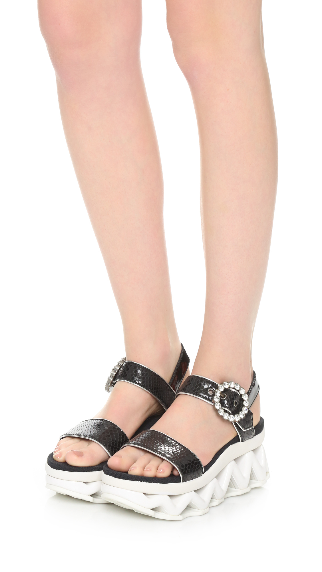5358791c910 Lyst - Marc By Marc Jacobs Ninja Wave Sandals in Black