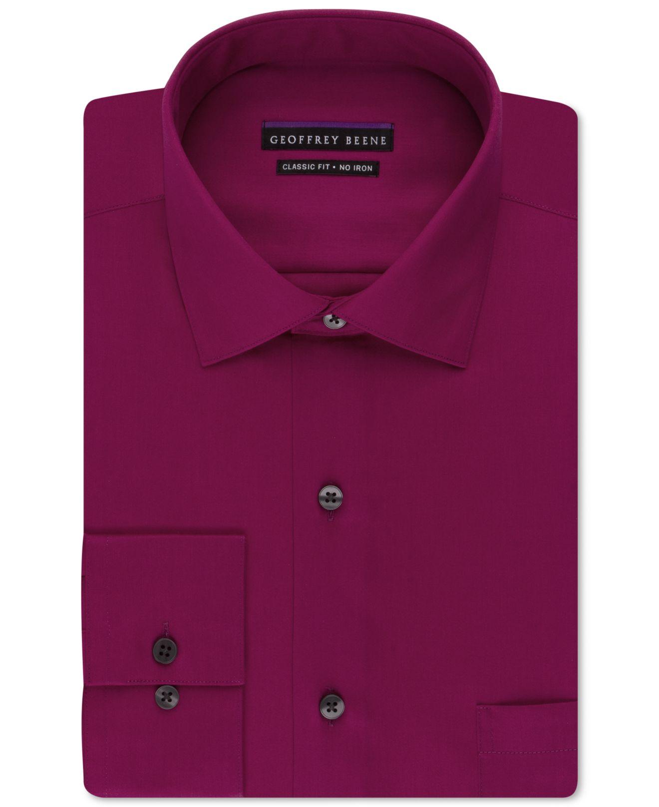 Lyst Geoffrey Beene Non Iron Sateen Solid Dress Shirt In