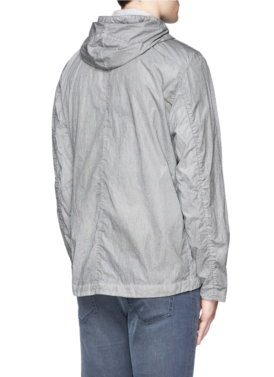 Stone island Garment Dyed Pixel Reflective Jacket in Gray for Men ...