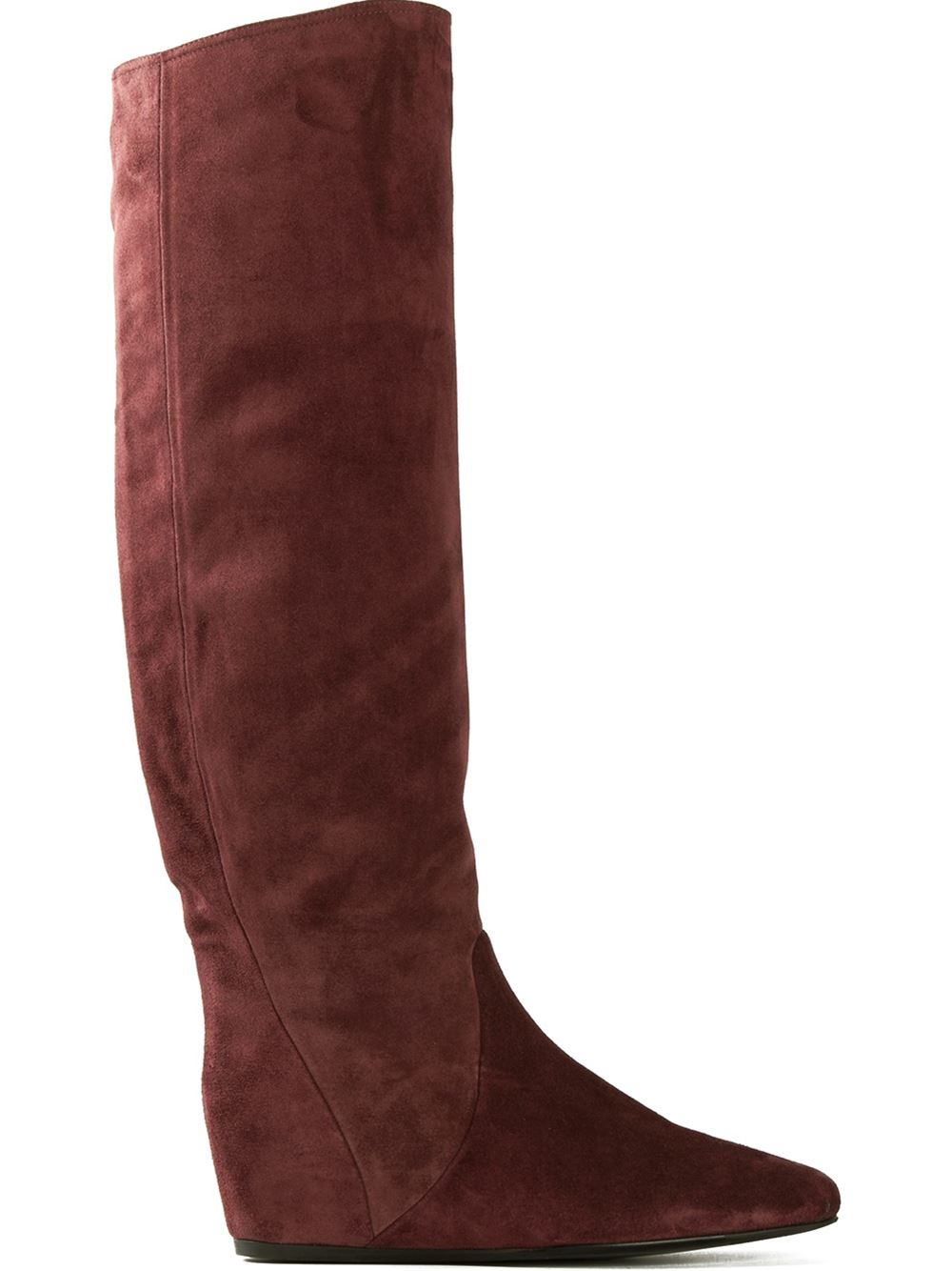 lanvin concealed wedge boots in brown pink purple lyst