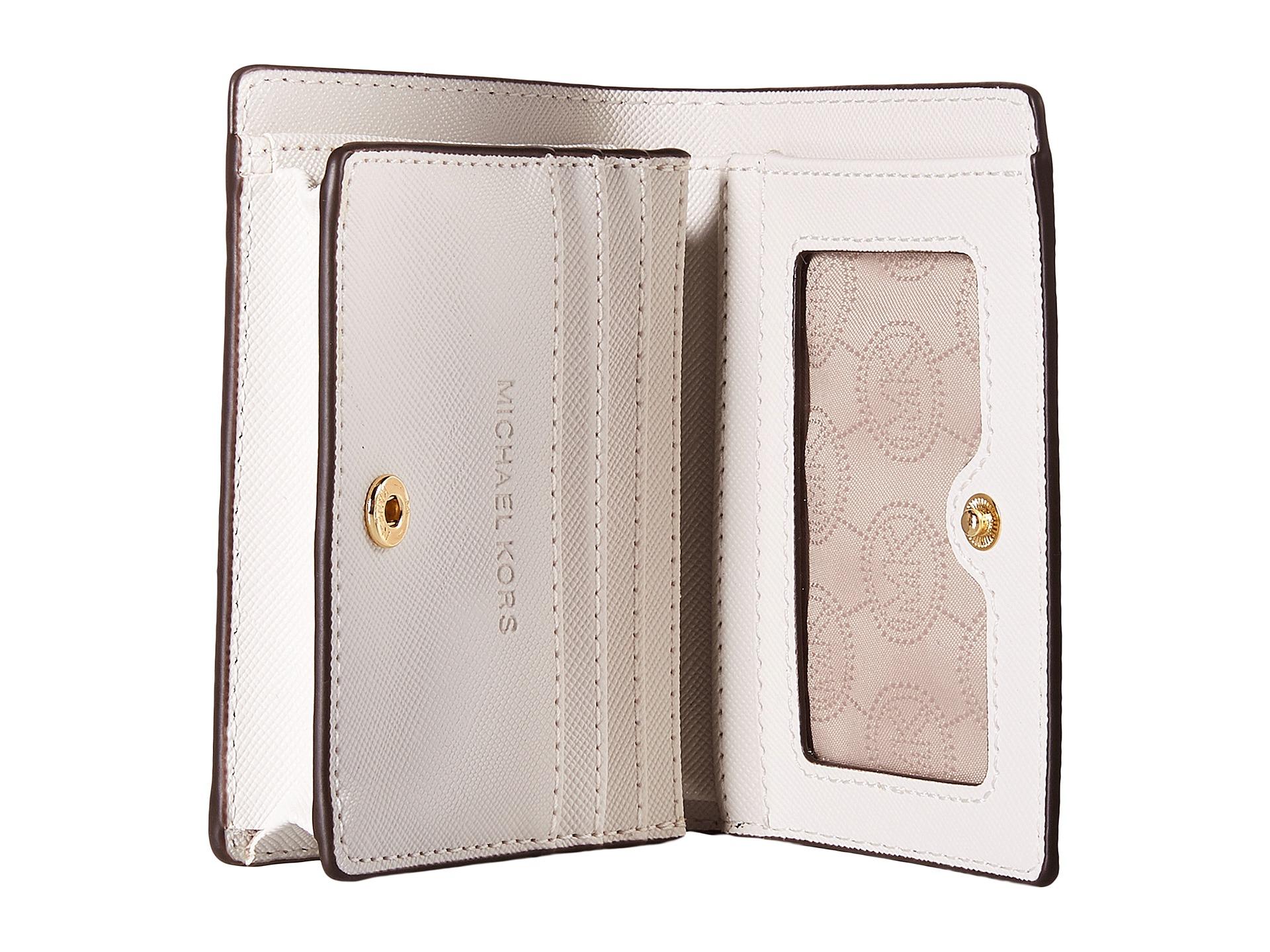 646b1636f849 MICHAEL Michael Kors Jet Set Travel Flap Card Holder in White - Lyst