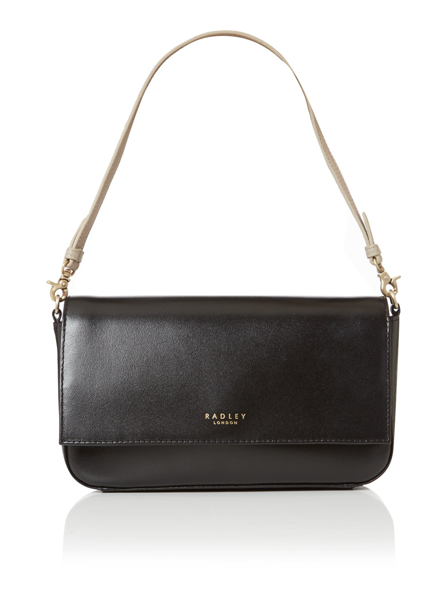 Radley Hepburn Small Black Flapover Shoulder Bag in Black | Lyst