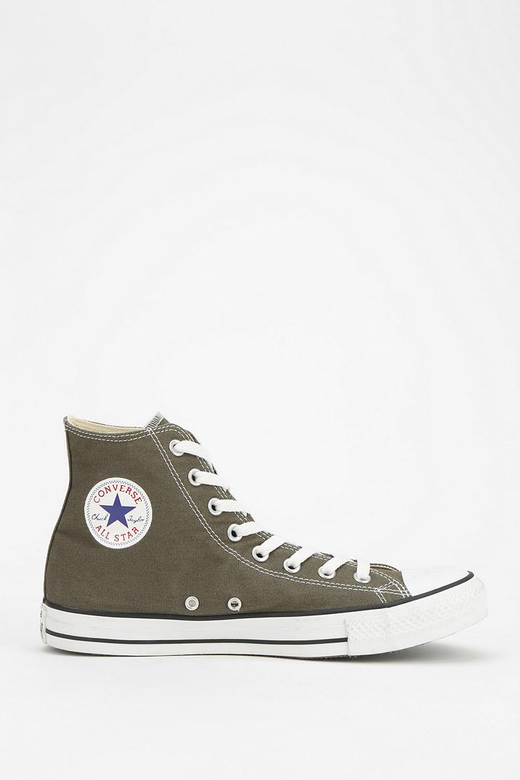 5c1d9de97cf0 Lyst - Converse Chuck Taylor All Star Womens Hightop Sneaker in Green
